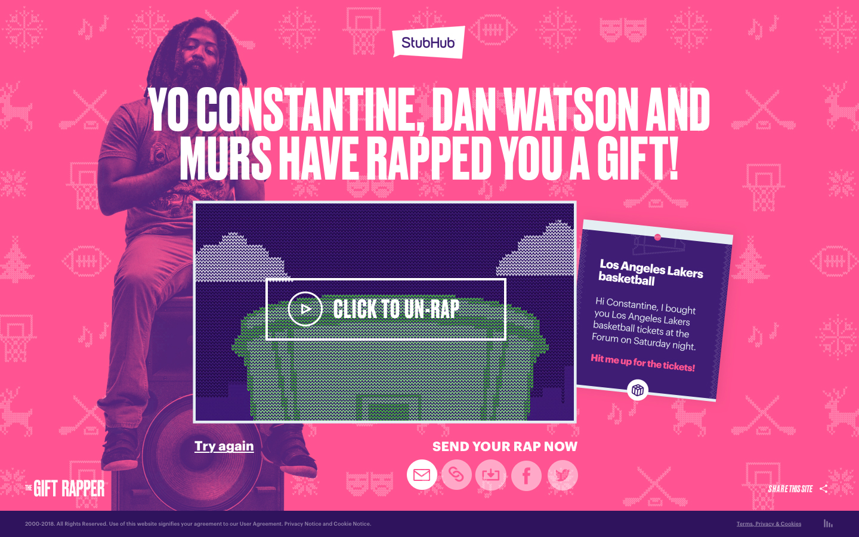 StubHub Gift Rapper