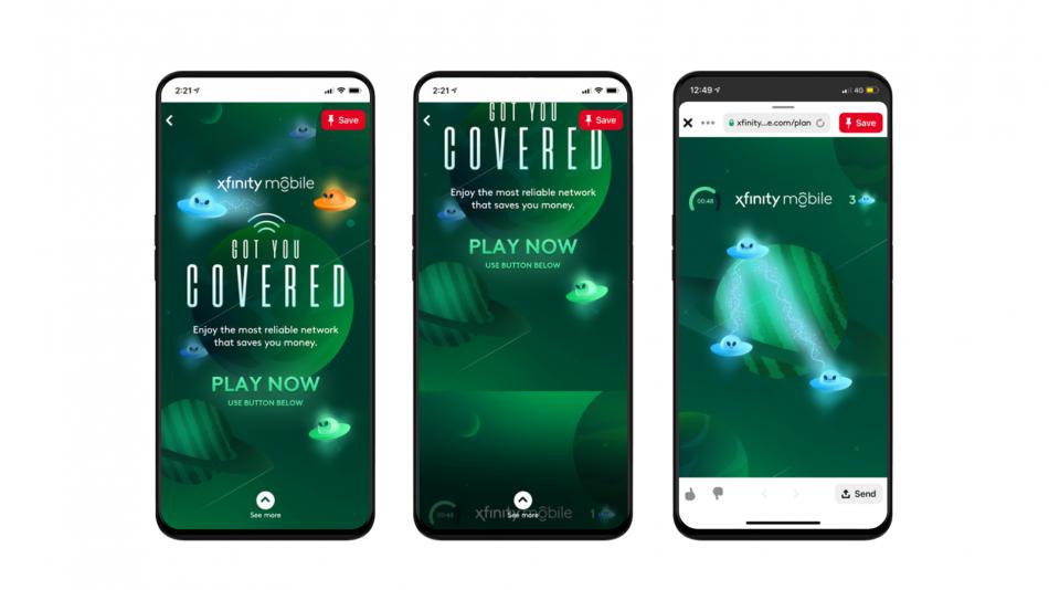 Xfinity Mobile Pinterest Games