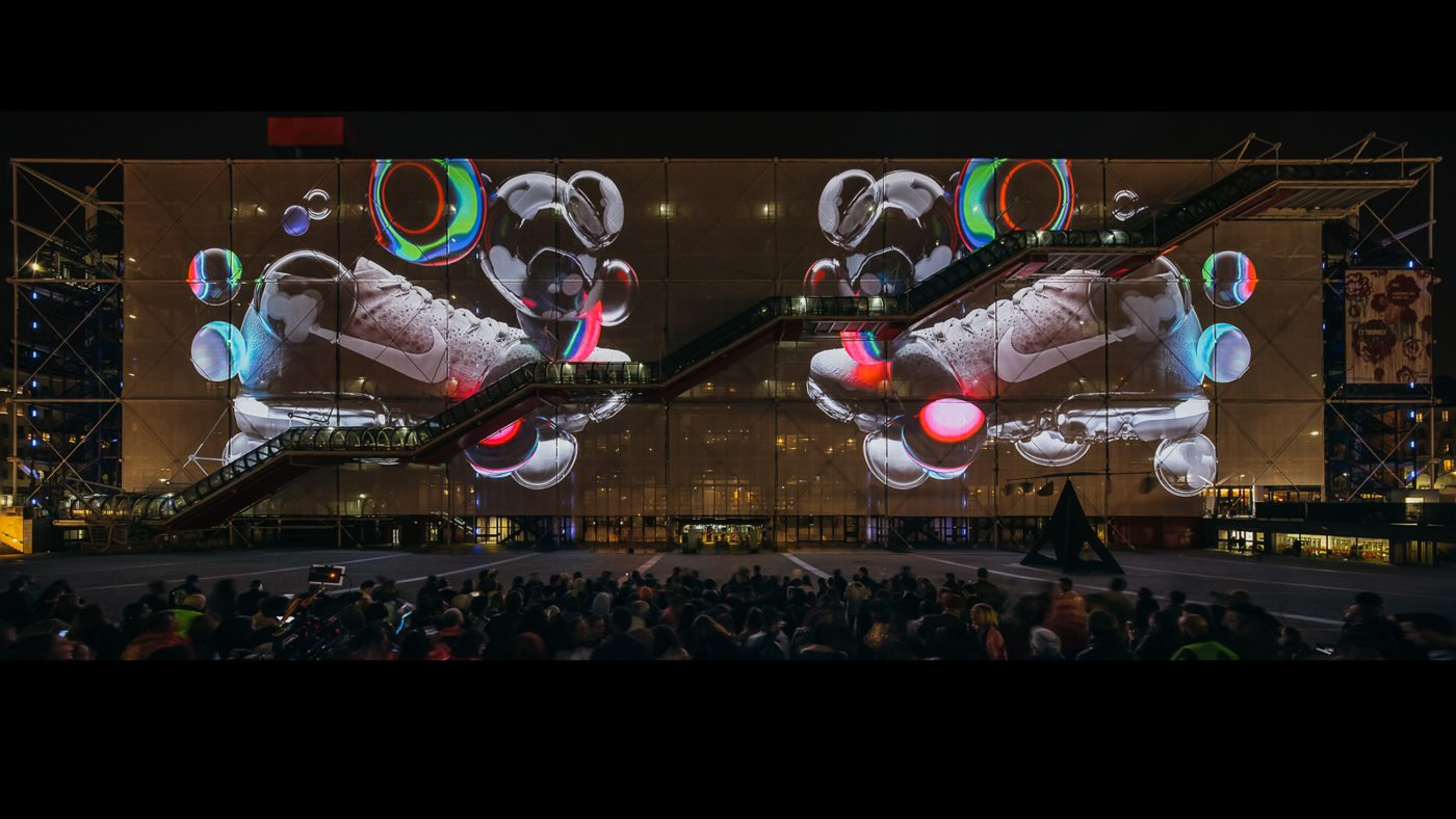 Nike Projection at the Pompidou Centre for Air Max Day 3f51084e7