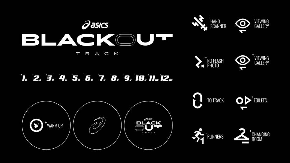 ASICS Blackout Track