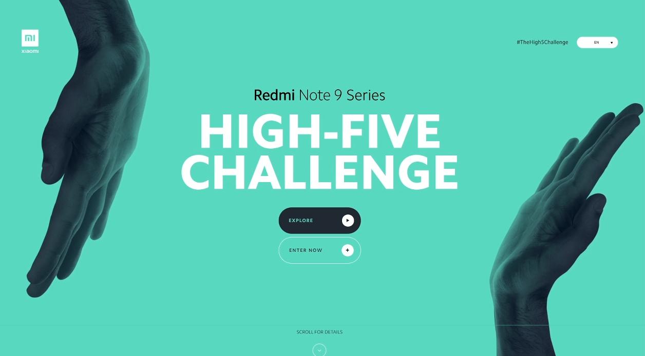 Xiaomi Redmi Note Series The High 5 Challenge