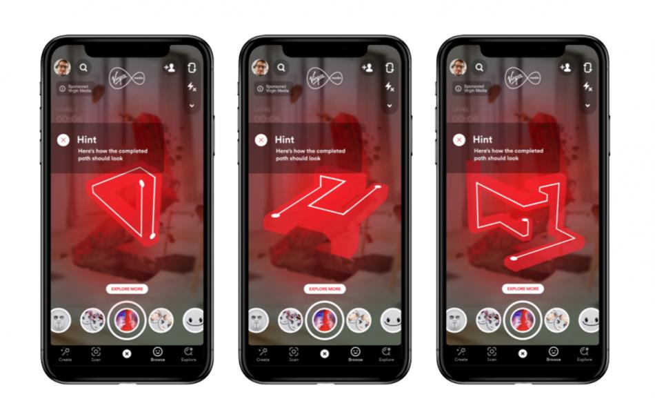 Virgin Media Snapchat AR Game